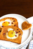 Egg In A Hole — Stock Photo