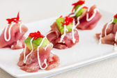 Ahi Carpaccio — Stock Photo