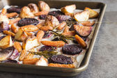 Rosemary roasted root vegetables — Stock Photo