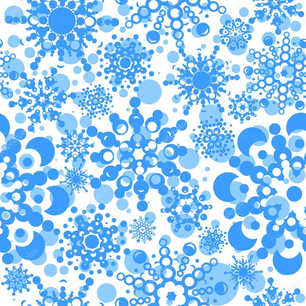 Seamless pattern with snowflakes. layered vector for easy manipulation. Eps 8  Stock Vector #16862951