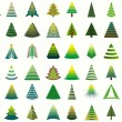 Christmas trees — Vector de stock #18383003