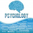 Phychology with Keywords - Blue — Stock Photo