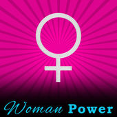 Pink Burst Woman Power Square — 图库照片