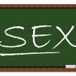 Sex Education - Classroom Board — Stock Photo