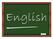 English - Classroom Board — Stok fotoğraf