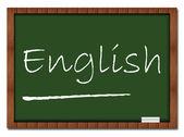 İngilizce - sınıf panosu — Stok fotoğraf