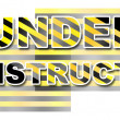 Stock Photo: Under Construction - Yellow Black