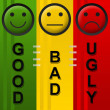 Good Bad Ugly — Stock Photo