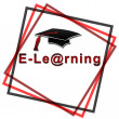 Stock Photo: E-Learning - Red font with black hat