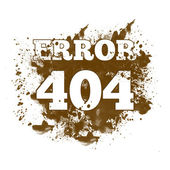 404 Not Found - Spatter — Stock Photo