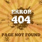 404 Not Found - Vintage with Spatter — Stock Photo