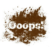 Ooops - Messy Blot — Stock Photo