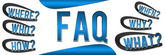 FAQ Banner Blue — Stock Photo