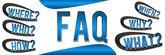 FAQ Banner Blue — Stock Photo