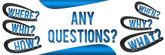 Any Questions Banner - Blue — Stock Photo