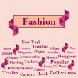 Fashion Text with Keywords - Peach — Stock Photo