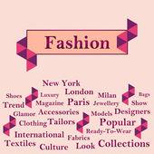 Fashion Text with Keywords - Peach — Stock Photo