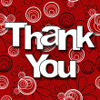 Stock Photo: Thank You Red Black