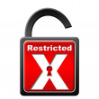Restricted Lock Unlocked — 图库照片