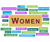 Women Colourful Tag Cloud — Stock Photo