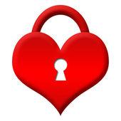 Red Heart Shape Lock - Locked — Stock Photo