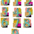 Numbers in Colourful Background - Simple — Stock Photo