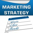 Marketing Strategy Square — Stock Photo