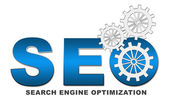 SEO Text with Gears — Stock Photo