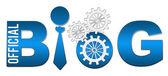 Oficjalny blog niebieski — Zdjęcie stockowe