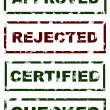 Stamps of Approved Rejected Checked Certified — Stock Photo