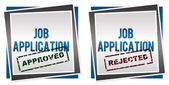 Job Application Approved Rejected — Stock Photo