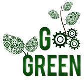 Go Green Square — Stock Photo