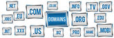Domains Blue Grey Banner — Stock Photo