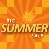 Big Summer Sale - Orange Yellow — Stock Photo