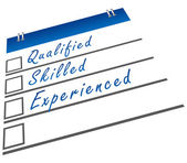 Qualified Skilled Experienced — Stock Photo