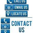 Stock Photo: Contact Us with Elements Blue