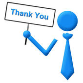 Thank You Signboard Blue — Stock Photo