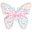 Fashion Butterfly — Stock Photo