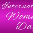 Womens Day Pink Face Horizotal — Stock Photo