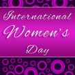 ������, ������: Womens Day Purple Pink Circles