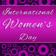 Stock Photo: Womens Day Purple Pink Circles