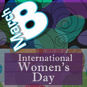 Womens Day Random Colorful Circles — Stock Photo