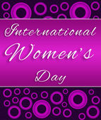 Womens Day Purple Pink Circles — Stock Photo