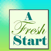 A Fresh Start Green Turquose — Stock Photo