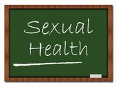 Sexual Health - Classroom Board — Stock Photo