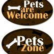 Pets are Welcome Zone — Stock Photo #43800543