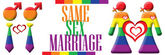 Same Sex Marriage Banner — Stock Photo