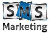 SMS Marketing Three Blocks — Stock Photo