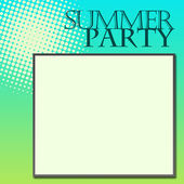 Summer Party Green Turquoise — Stock Photo