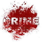Crime Messy Blot — Stock Photo